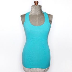 Lululemon Light Blue Scoop Neck Tank Top Size 6